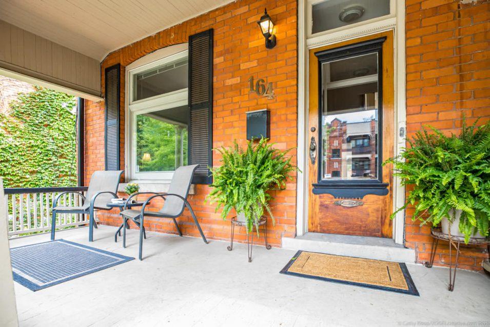 Front porch of 164 Duke Street, Hamilton