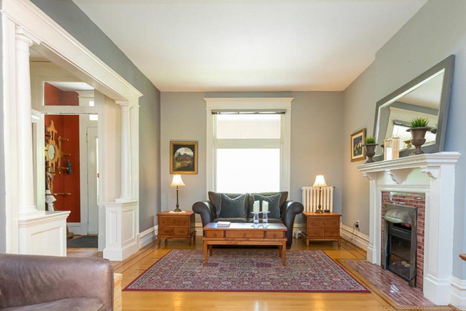 Living room at 164 Duke Street, Hamilton