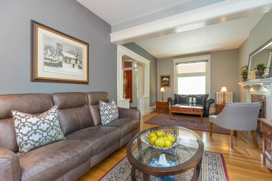 Sitting area at 164 Duke Street, Hamilton