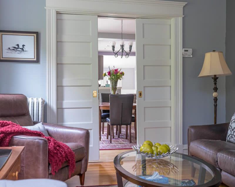 View into the dining room at 164 Duke Street, Hamilton
