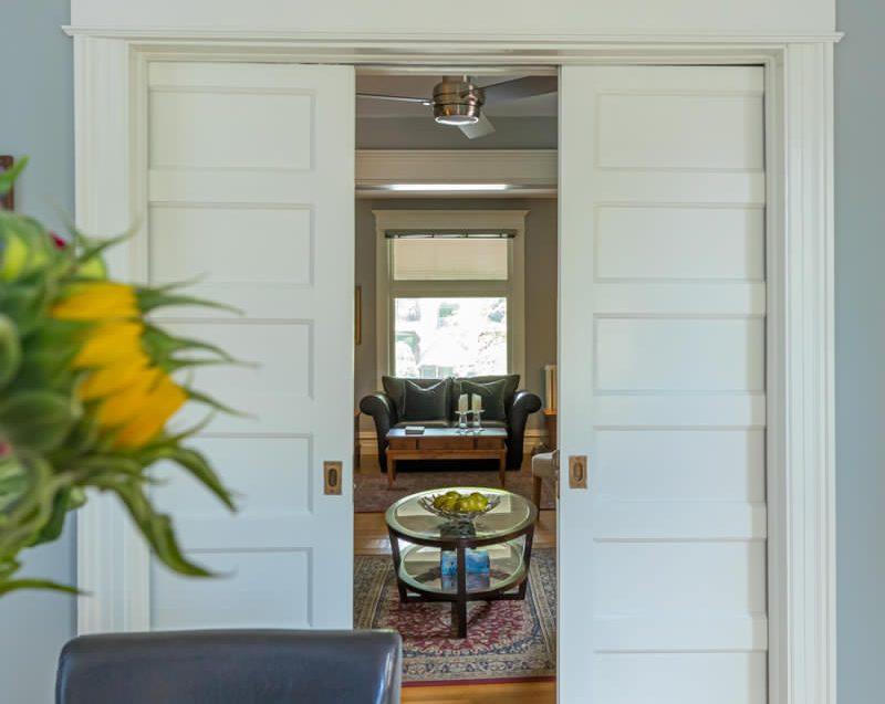 View to the living room at 164 Duke Street, Hamilton