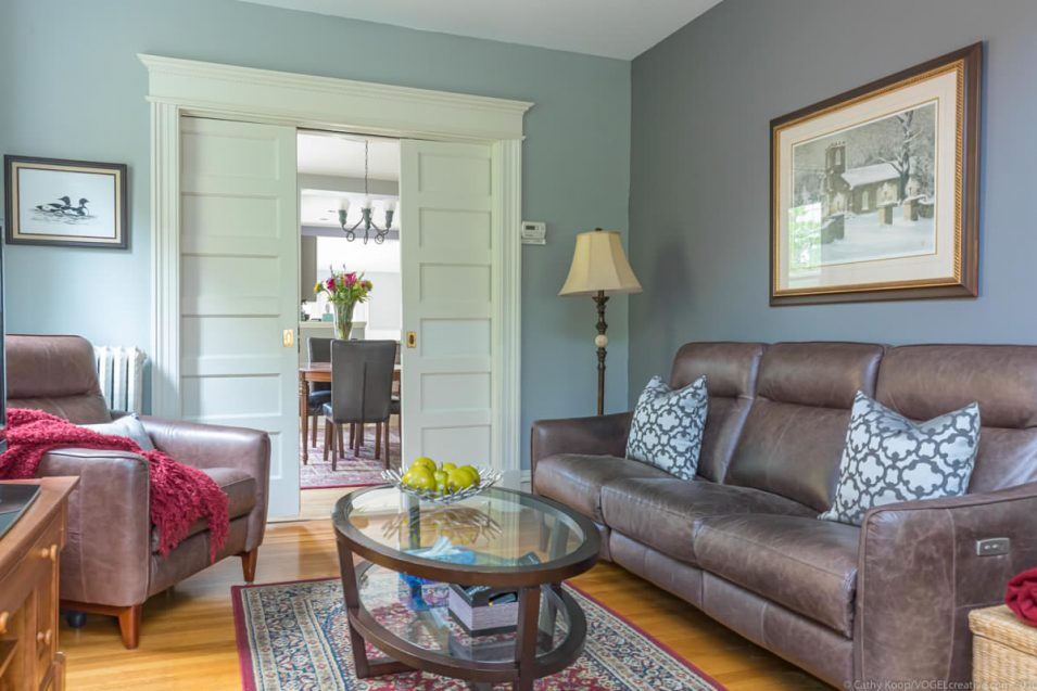 Sitting room at 164 Duke Street, Hamilton