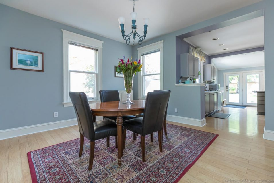 Dining room at 164 Duke Street, Hamilton