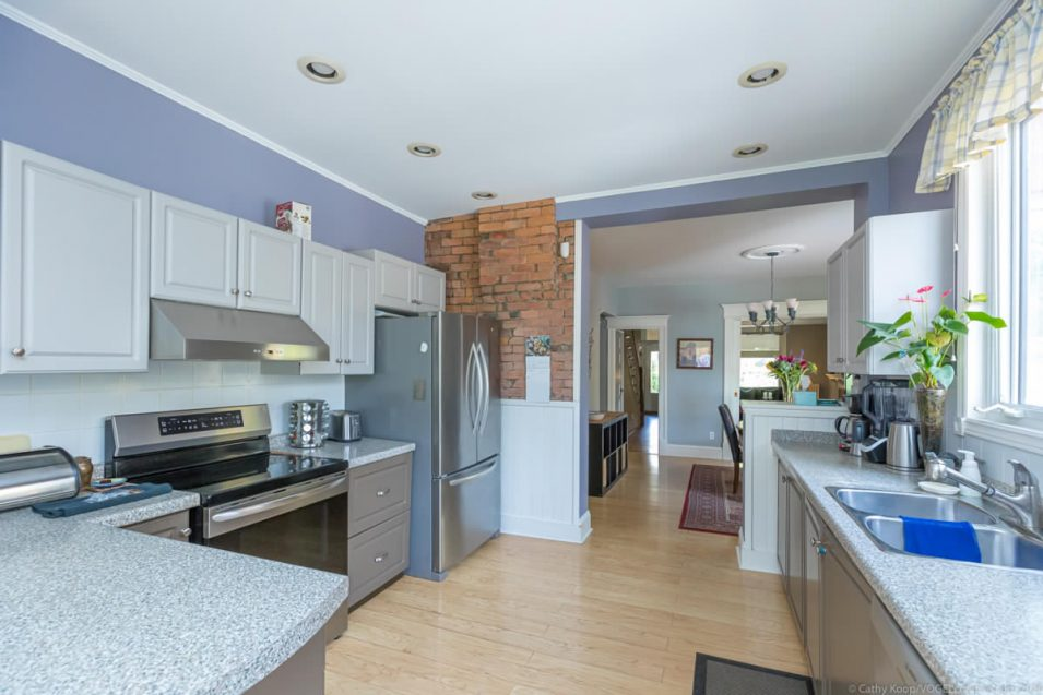 Kitchen and dining room at 164 Duke Street, Hamilton
