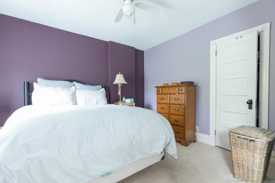 Guest bedroom and closet at 164 Duke Street, Hamilton